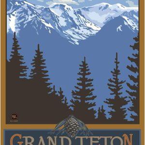 Grand Teton National Park Mountain Poster