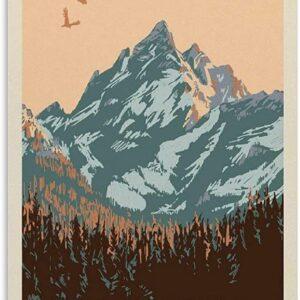 Grand Teton National Park Vintage Poster