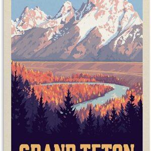 Grand Teton Snake River Valley Wall Decor