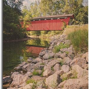 Historic Cuyahoga Valley National Park Red Covered Bridge Poster