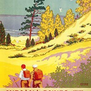 Indiana Dunes National Park Hiking Poster