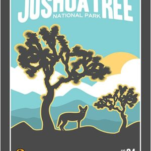 Joshua Tree National Park Retro Poster