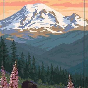 Mount Rainier National Park Bear Print