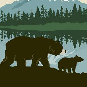 Mount Rainier National Park Bears Poster