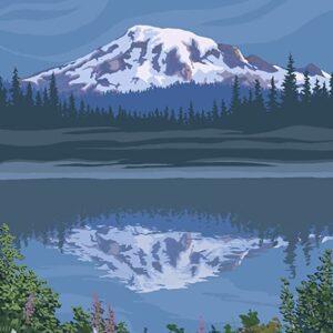 Mount Rainier National Park Reflection Lake Poster