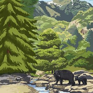 Olympic National Park Bear Poster