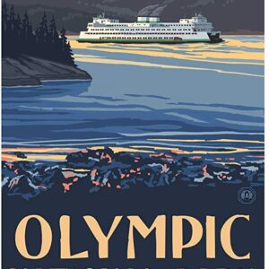 Olympic National Park Ferry Poster