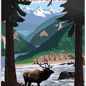 Olympic National Park Grand Valley Poster