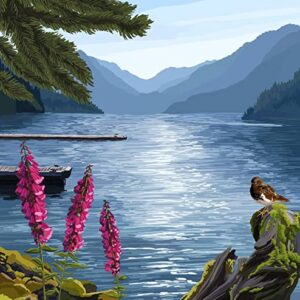 Olympic National Park Lake Crescent Poster