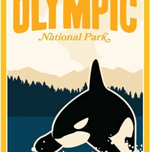 Olympic National Park Orca Poster