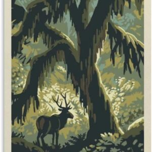 Olympic National Park Reindeer Poster