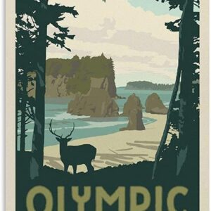 Olympic National Park Vintage Poster