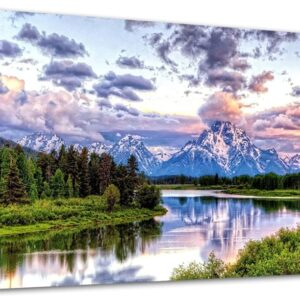 Oxbow Bend Grand Teton National Park Canvas Poster