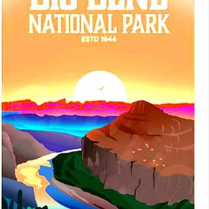 Retro Big Bend National Park Poster
