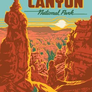 Retro Bryce Canyon National Park Poster