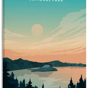 Retro Crater Lake Poster