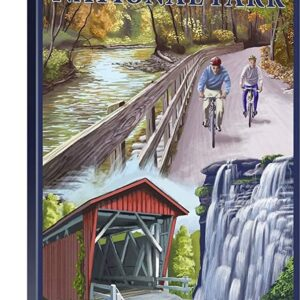 Retro Cuyahoga Valley National Park Travel Poster