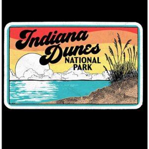 Retro Indiana Dunes National Park Poster