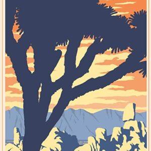 Retro Joshua Tree National Park Poster