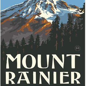 Retro Mount Rainier National Park Travel Poster