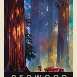 Retro Redwood National Park Sign