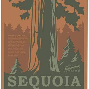 Retro Sequoia National Park California Print