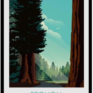 Retro Sequoia National Park Poster