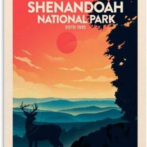 Retro Shenandoah National Park Poster