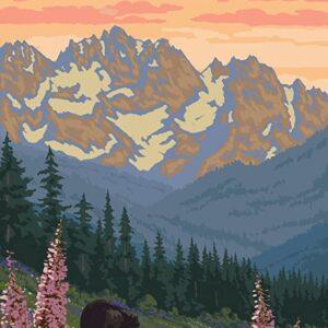 Rocky Mountain National Park Bears Wall Print