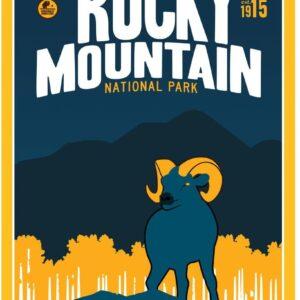 Rocky Mountain National Park Bighorn Sheep Poster