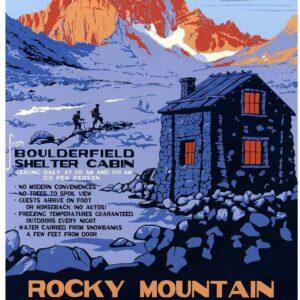 Rocky Mountain National Park Boulderfield Shleter Cabin Poster