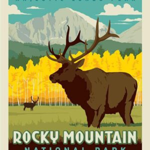 Rocky Mountain National Park Elk Poster