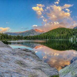 Rocky Mountain National Park Longs Peak And Bear Lake Print