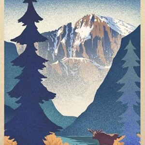 Rocky Mountain National Park Moose Poster