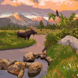 Rocky Mountain National Park Moose Wall Decor