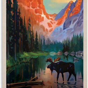 Rocky Mountain National Park Moose Wall Print