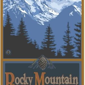 Rocky Mountain National Park Snowy Mountain Poster