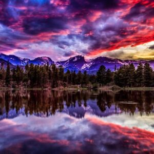 Rocky Mountain National Park Sunset Wall Decor