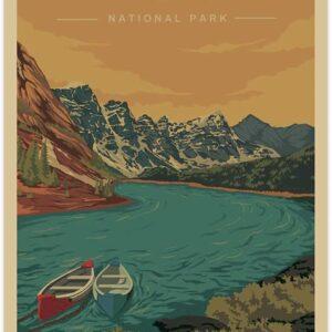 Rocky Mountain National Park Vintage Poster