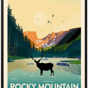 Rocky Mountain National Park Vintage Print