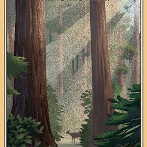 Sequoia National Park Lithograph