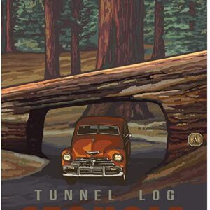 Sequoia National Park Tunnel Log Poster