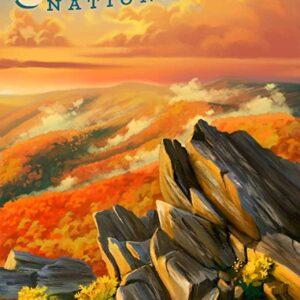 Shenandoah National Park Travel Poster