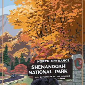Shenandoah National Park Virginia Entrance Art Print