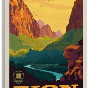 Sunset Zion National Park Poster
