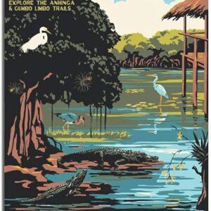 Us Department Of Interior Everglades National Park Poster