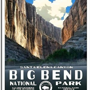 Us Department Of The Interior Big Bend National Park Poster