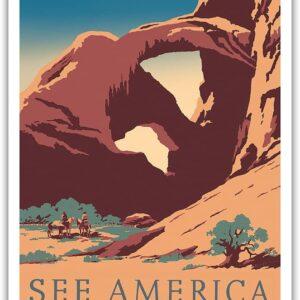 Vintage Arches National Park Utah Print