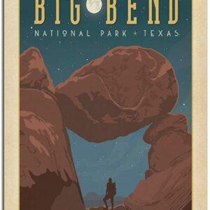 Vintage Big Bend National Park Night Sky Poster