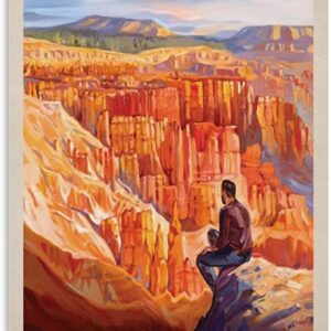 Vintage Bryce Canyon National Park Canvas Poster